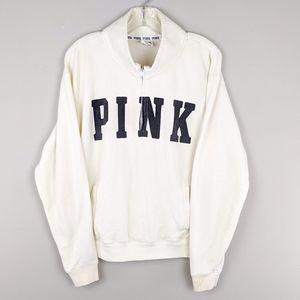PINK Victoria's Secret Tops - PINK Victoria's Secret | Creme 1/4 Zip Pullover-E